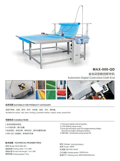 Automatic digital controlled cloth end cutter